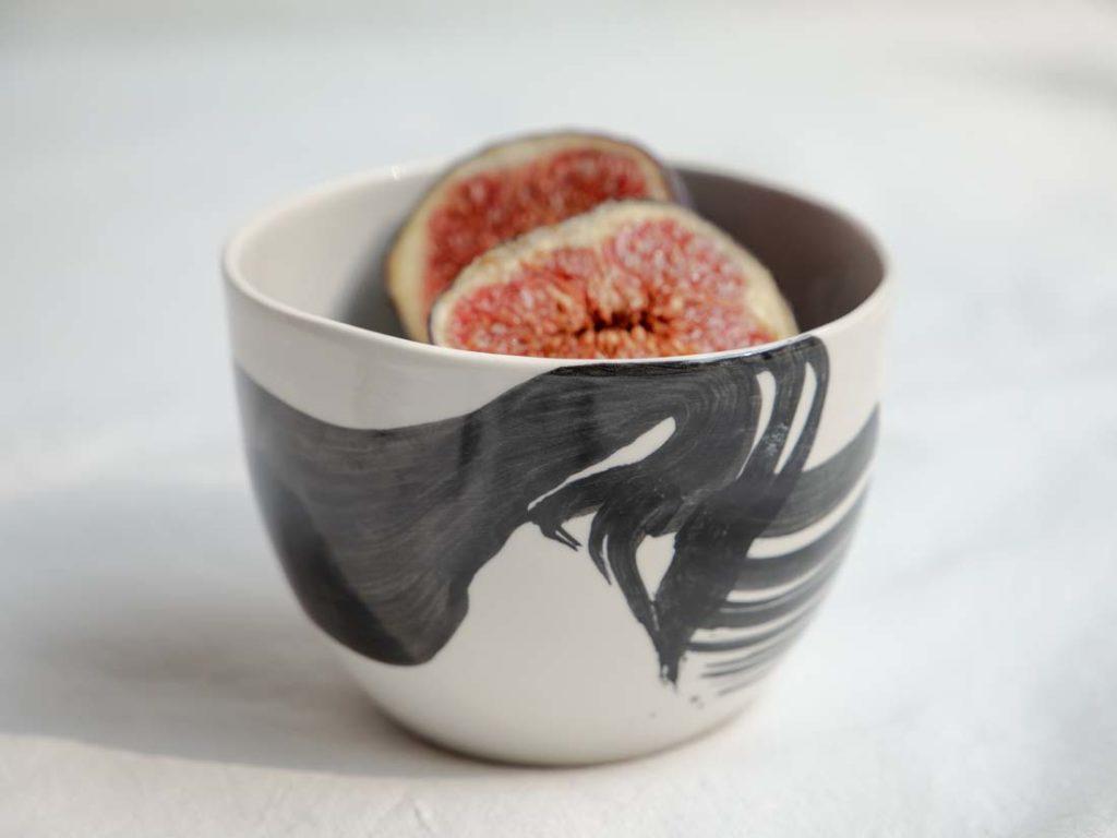 jap. brush black - mini schale / espresso cup