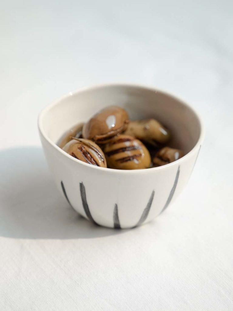 wooden lines - mini schale, espresso cup
