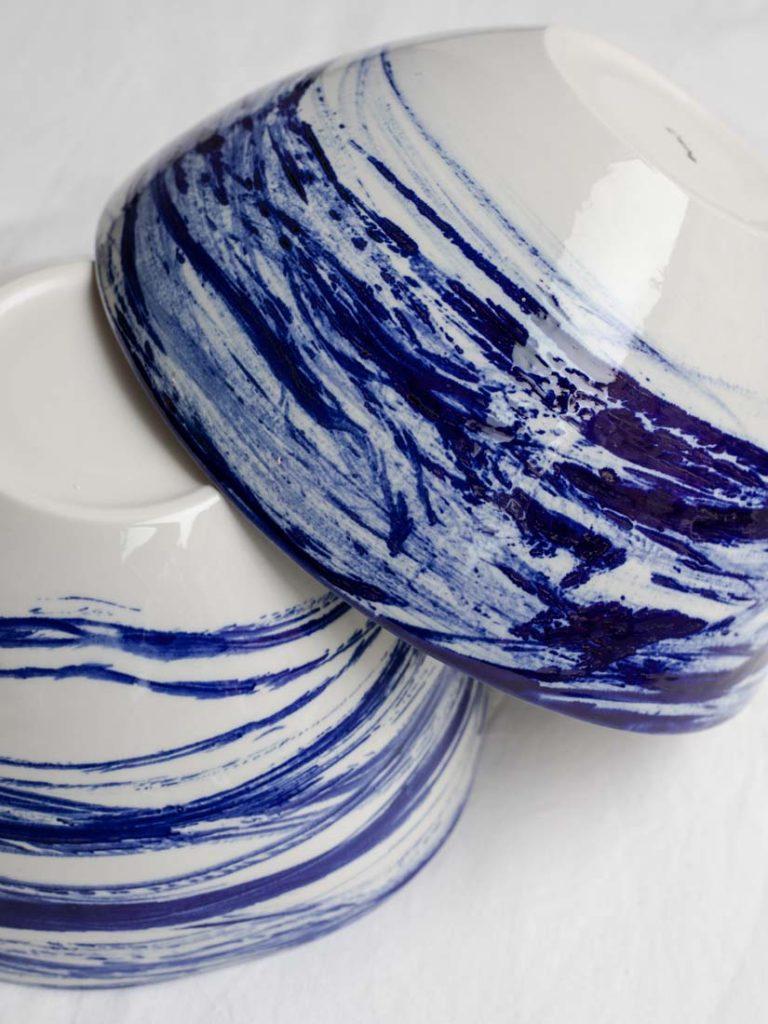 brush blue - bowl