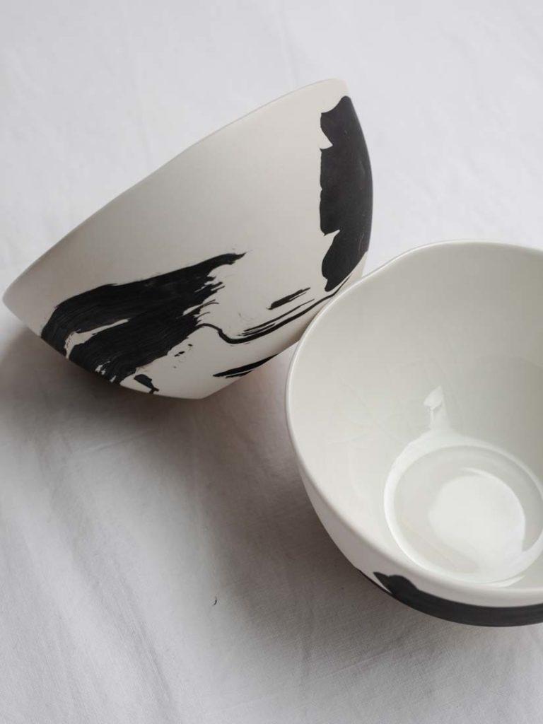 jap. brush raw black - kleine schale